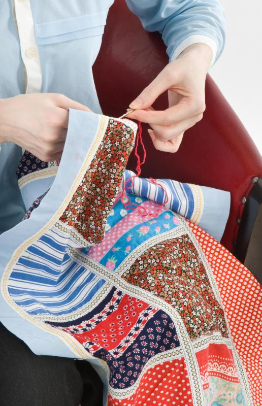 Quilts are sometimes created entirely by hand, although a sewing machine is useful for those who would rather not.