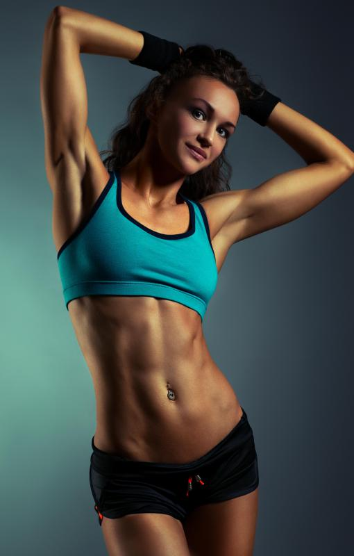 "Athletes tend to have defined and muscular lower abdominal muscles, often visible in the so-called ""six pack"" shape."