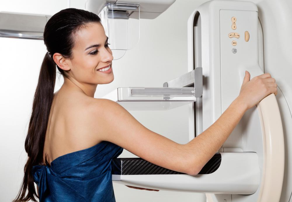 Medical imaging such as a mammogram may be used to pinpoint the proper placement of the radioactive pellet.