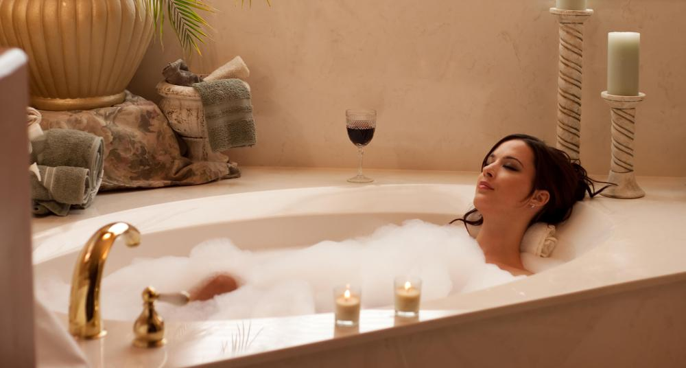The heat and bubbles from a bubble bath may help to sooth aching muscles and joint pain.