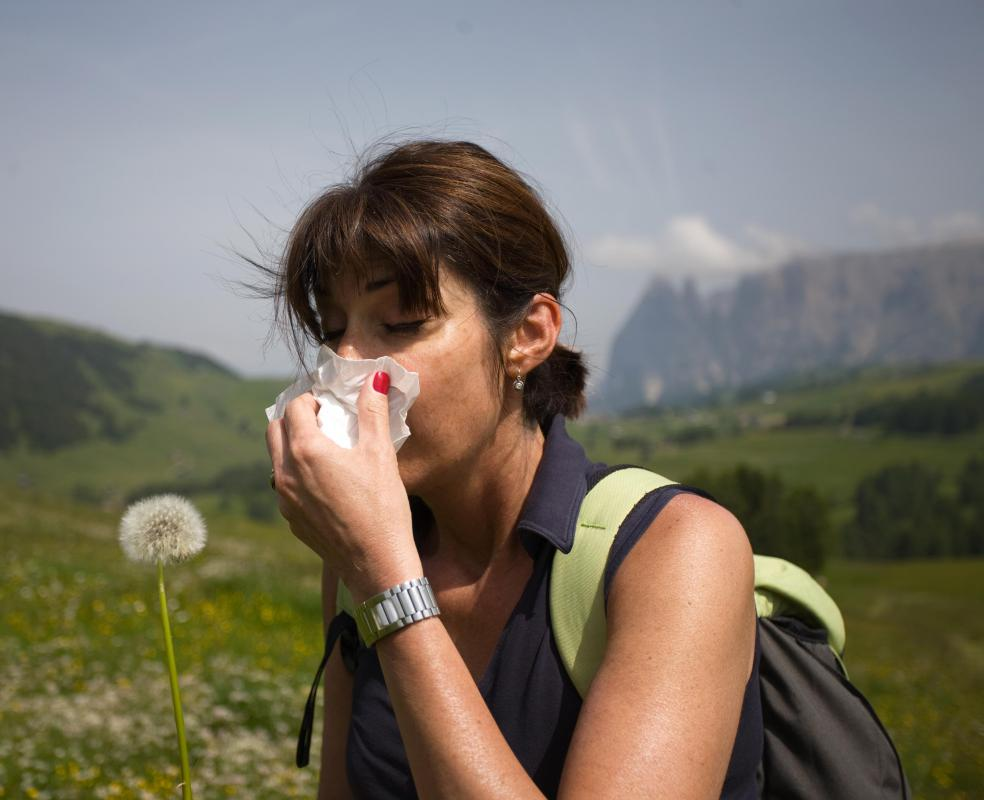 It may be necessary to carry allergy medication on a hiking trip.