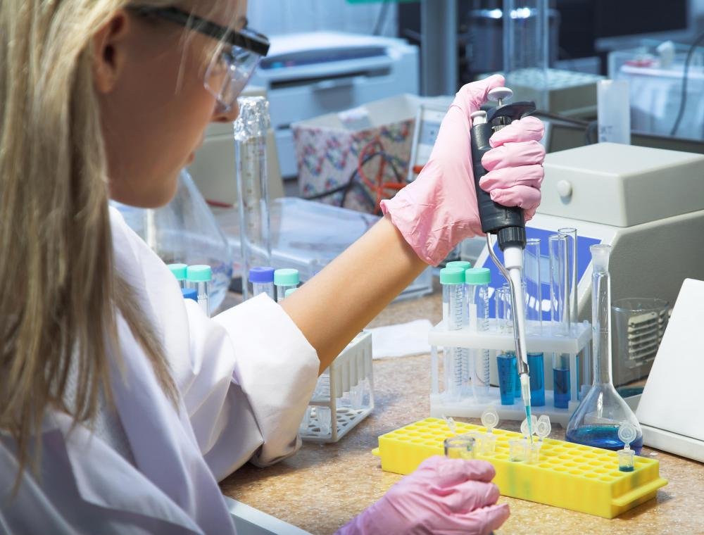 A biomedical technician might work in research.