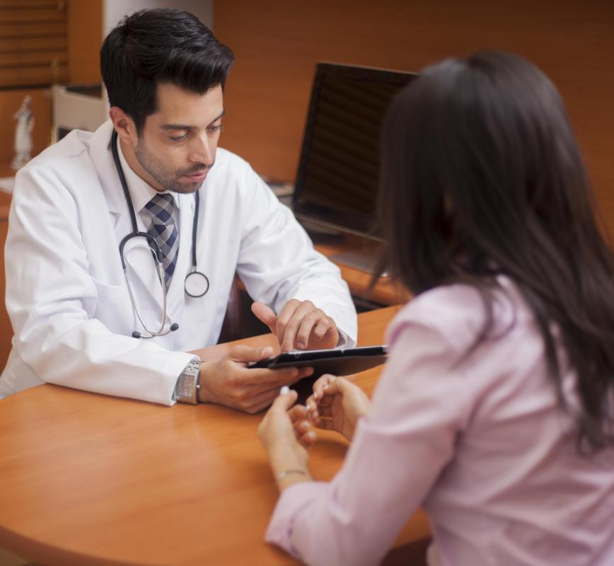 The doctor needs to know a patient's full medical history before beginning fosinopril therapy.
