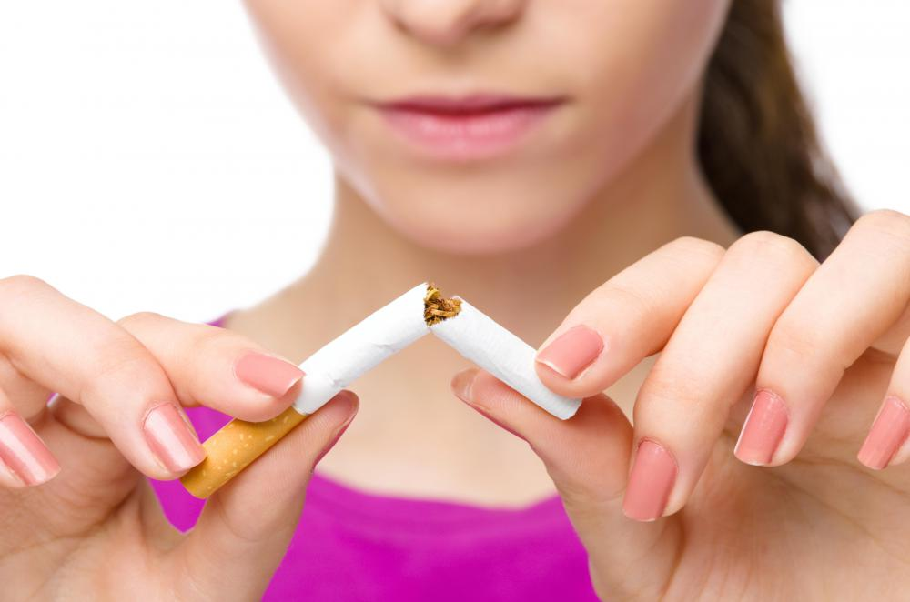 Not smoking can help someone have a larger lung volume.