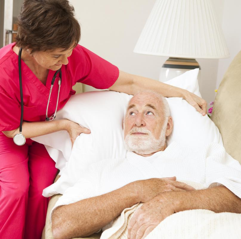 Home care may be given to patients who are terminally ill.