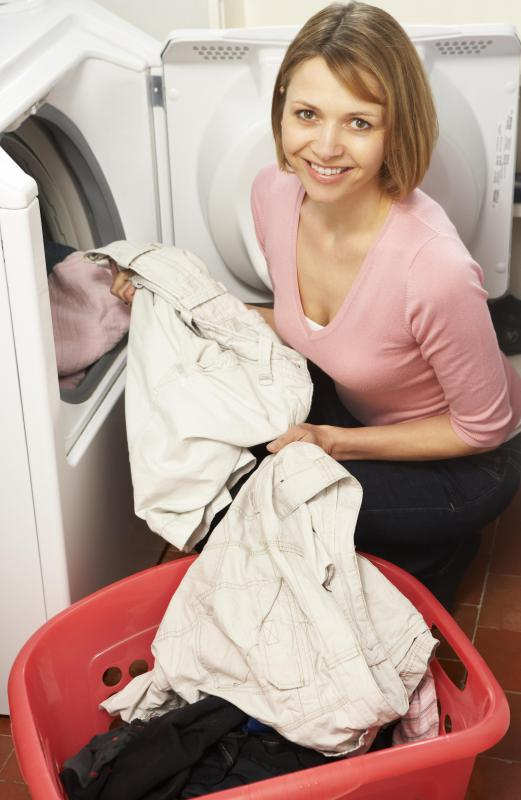 Blood stains caught quickly can often be removed by soaking the garments for 30 minutes and then putting them in the washing machine.