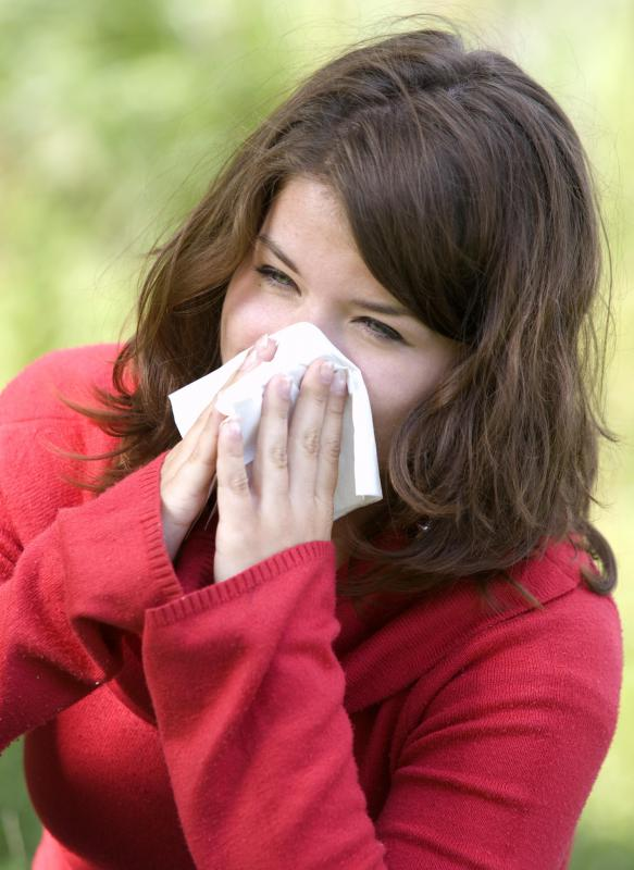 An individual suffering from a sinus infection may produce more mucus than usual.