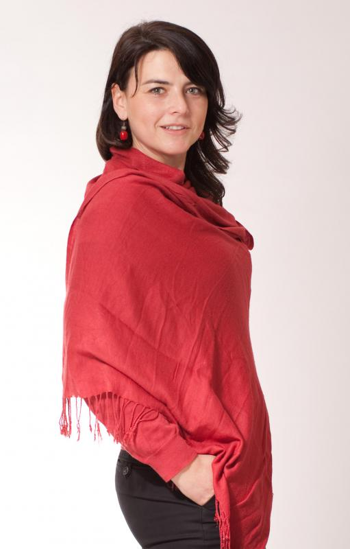 Shawls may be worn to provide warmth and insulation.