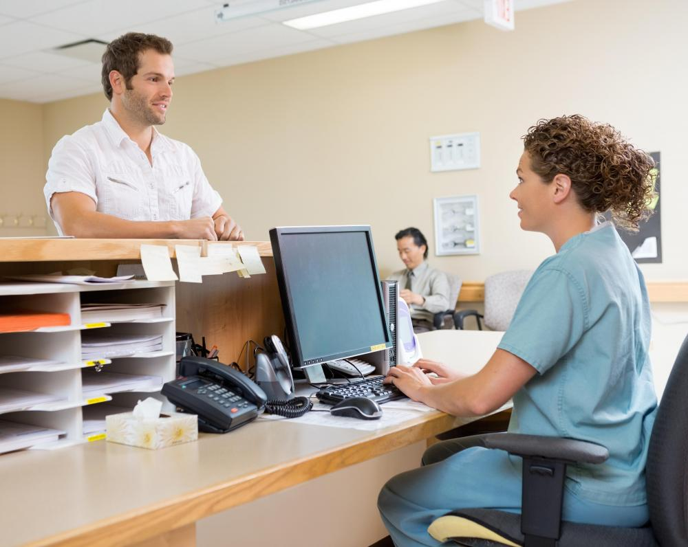 A clinic front office coordinator must be properly trained to handle medical records and other sensitive electronic files.