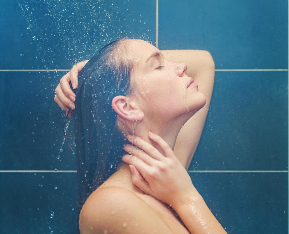 The steam from a hot shower can be a home remedy for nasal congestion.
