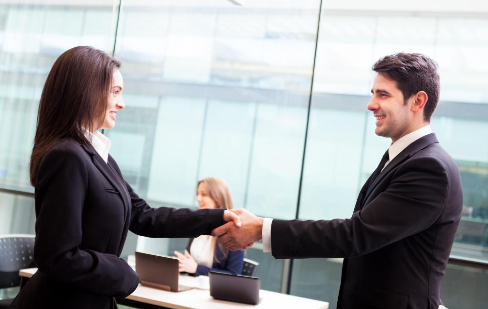 A handshake is considered to be a form of greeting and a gesture of good will.