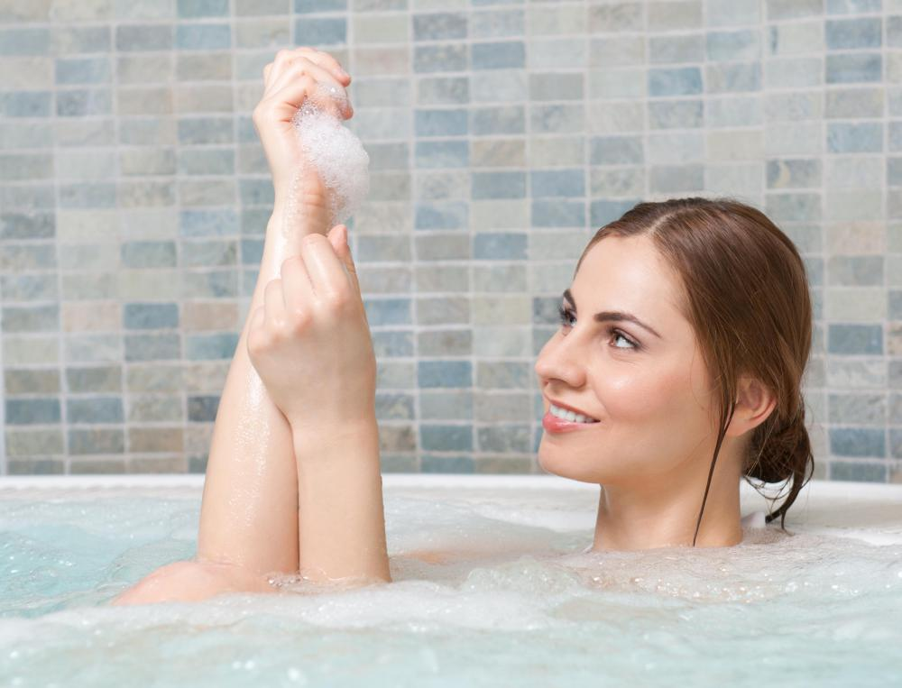 Skin softening ingredients like cornstarch and salt may be added to homemade bath bombs.