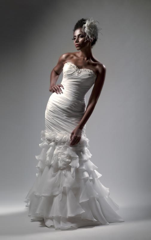 Many wedding dresses feature tightly fitted bodices.