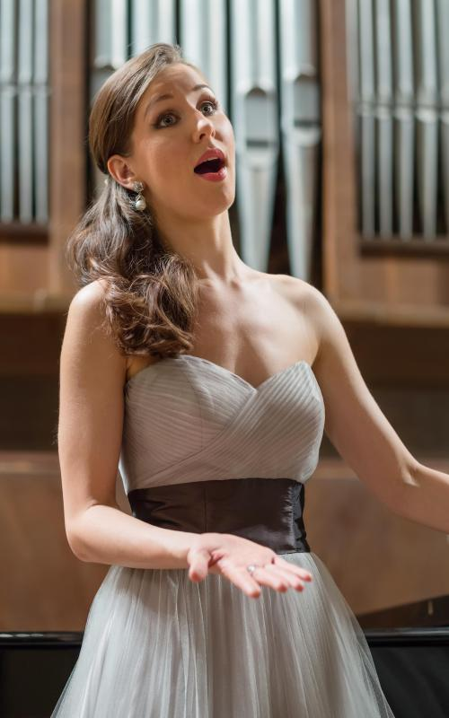Operas feature fully scored songs called arias that musically explain a character's emotions.