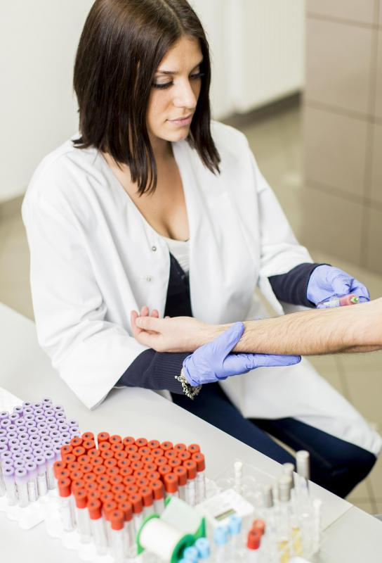 A patient's bloodwork may be used to determine his or her specific cancer treatment plan.