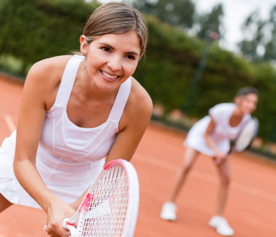 Tennis and other social activities may be helpful in recreational therapy.