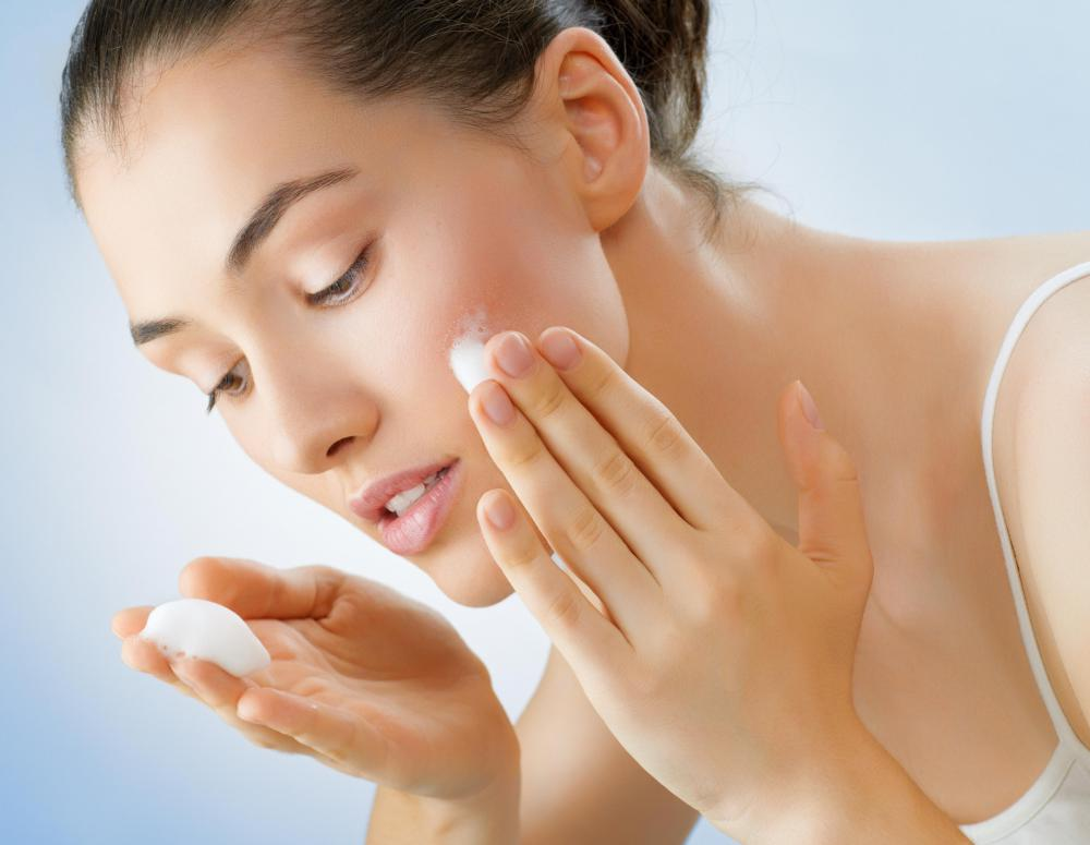 Moisturizing cream is applied to prevent dryness following a micro peel.