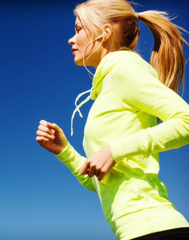 People who like to exercise outdoors often choose running and interval training as their aerobic workout.