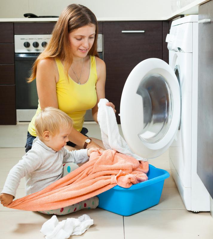 Babies may be sensitive to harsh detergents and other household substances.
