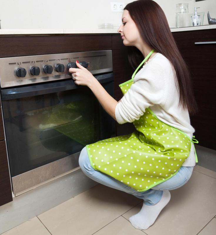 Self-cleaning ovens use high temperatures to burn away left over deposits from cooking.