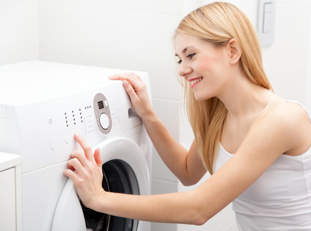 Make sure no mold is growing in the area where a washing machine is to be installed.