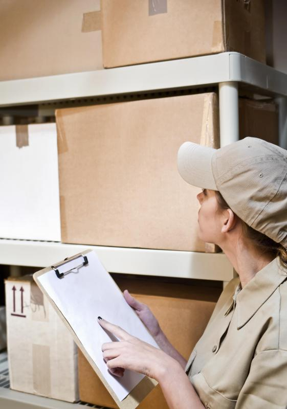 Warehouse managers keep track of inventory to ensure that orders are efficiently filled.