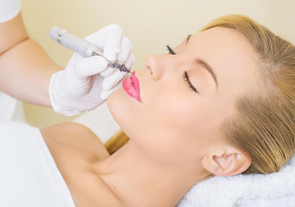 Permanent makeup services may be offered for the lips.