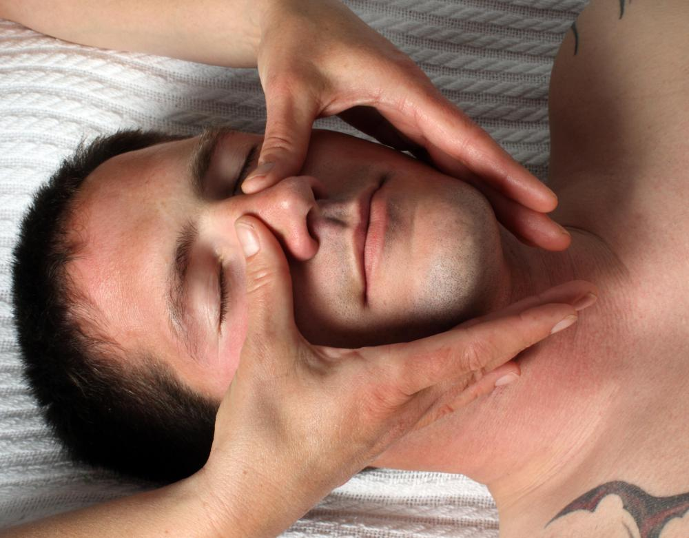 Facial massage may be used in lieu of a nasal syringe to alleviate nasal congestion.