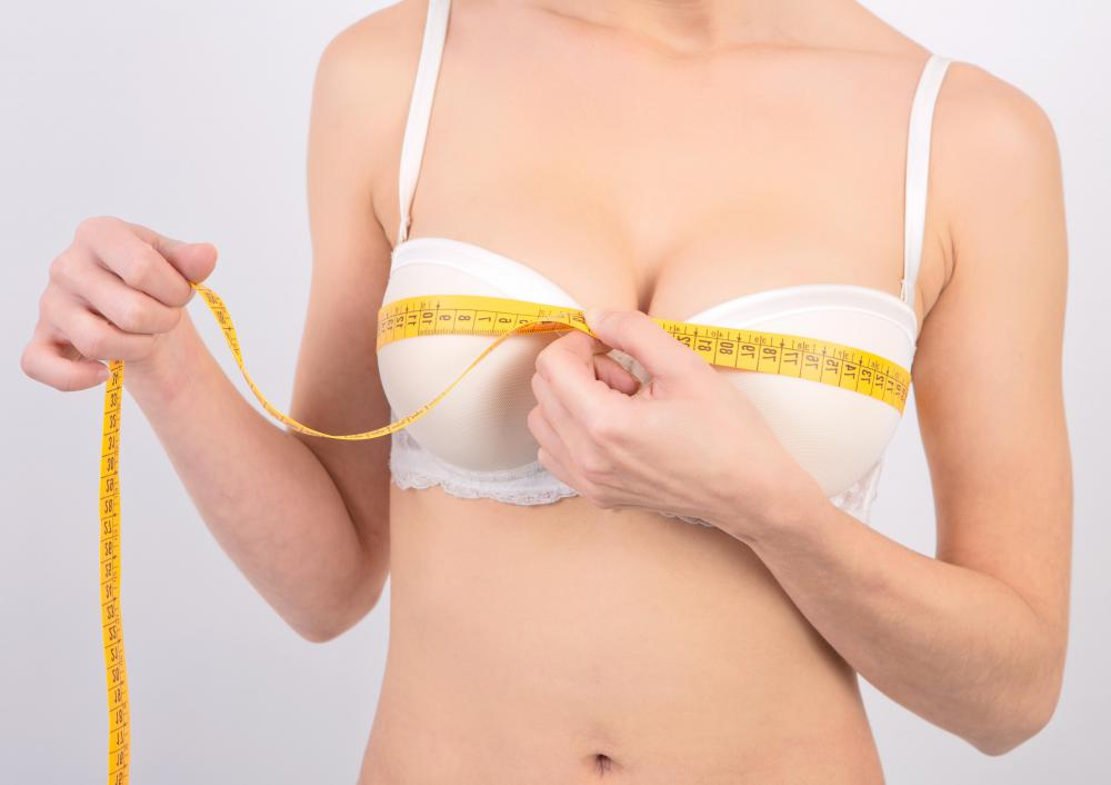 By taking simple measurements using a tailor's measuring tape, you can figure out what size bra to purchase.