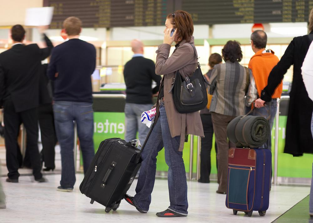 In most cases, checking in online for a flight allows the passenger to bypass lengthy lines at the airline counter.