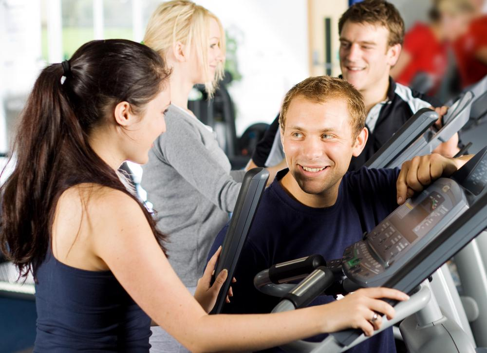 Group fitness classes can be a good place to meet new people and socialize at the gym.