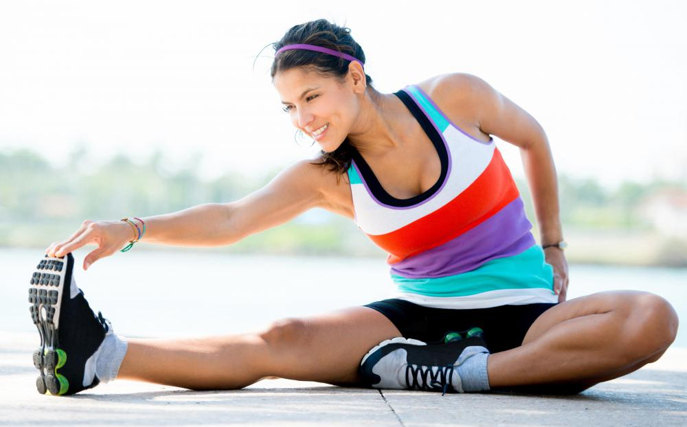 One type of foot exercise is stretching the feet, ankles, and calves.