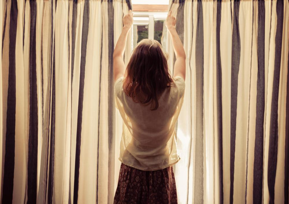 The single-rod pocket panel curtain is considered the easiest to make.
