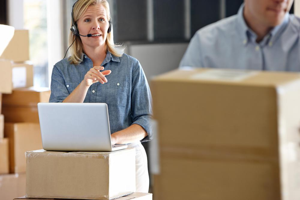 A warehouse manager might oversee shipping and receiving operations.