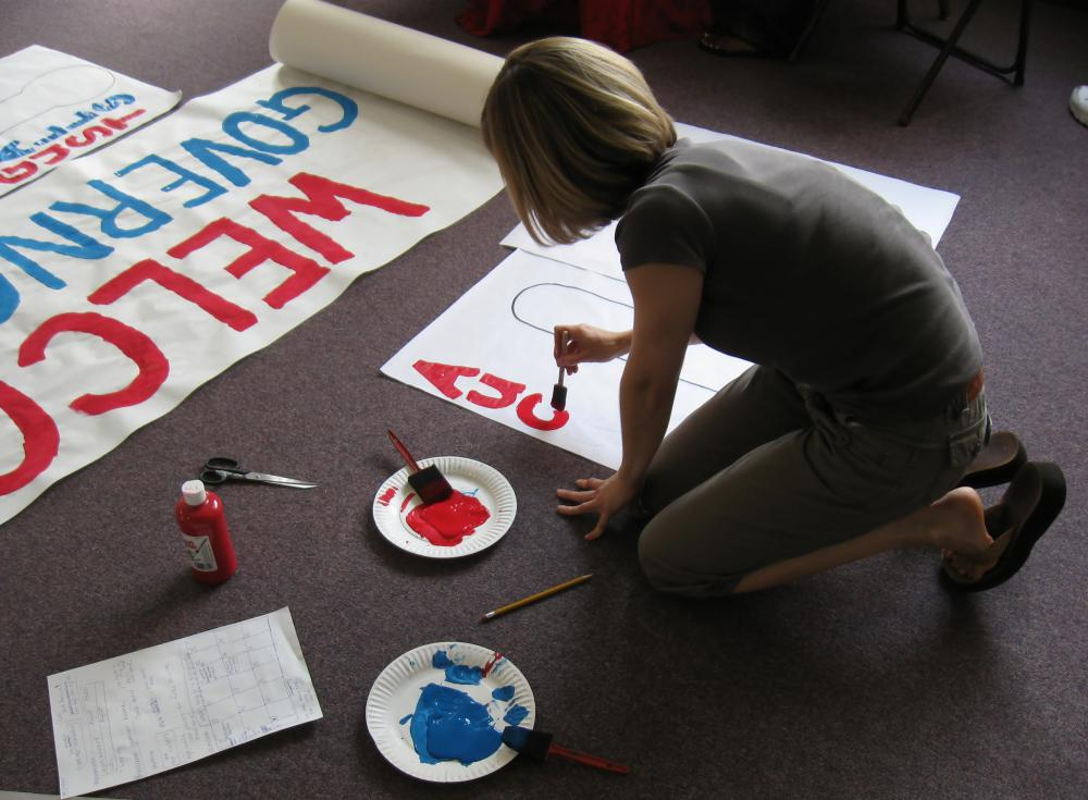 Volunteers typically have access to a wide variety of campaign materials.