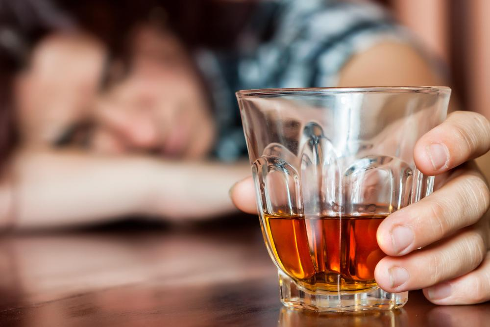 Alcoholics may find it extremely difficult to refrain from drinking.