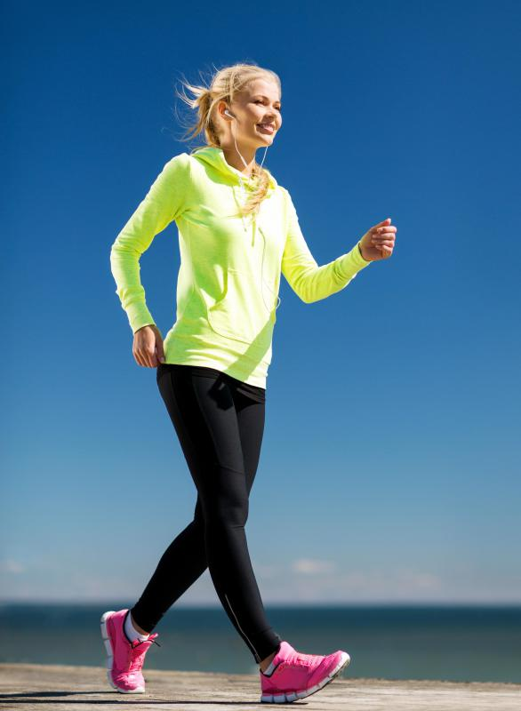 Interval training such as power walking can help prevent the build up of excess lactic acid.