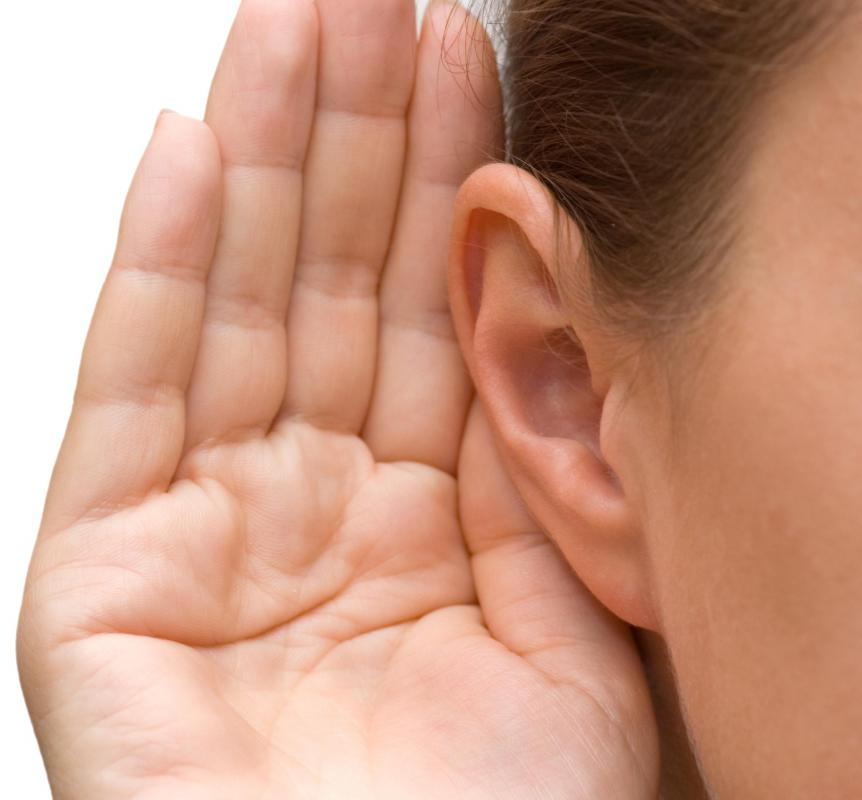 A buildup of earwax might cause hearing loss in one ear.