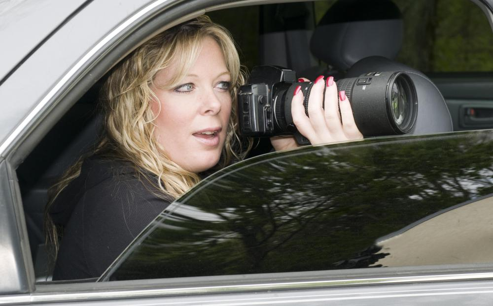 Paparazzi may secretly photograph celebrities and sell the images to newspapers or magazines.