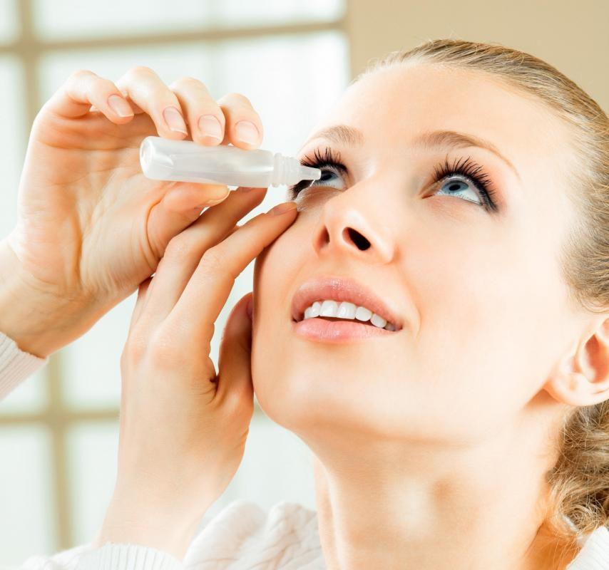 Eye drops can be used as part of lazy eye exercise.