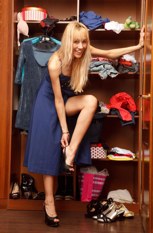 The overall size of a closet should be considered when choosing a shelving system.