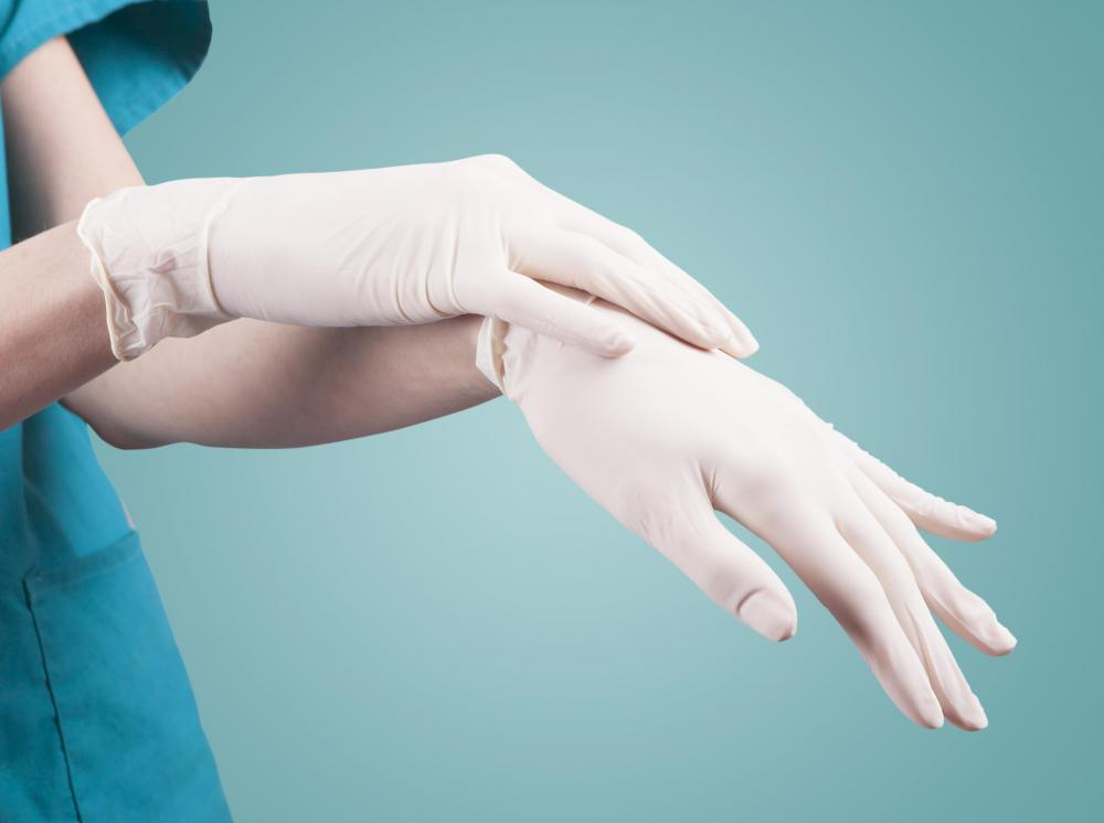 Sterile gloves will be needed to care for a nephrostomy tube.