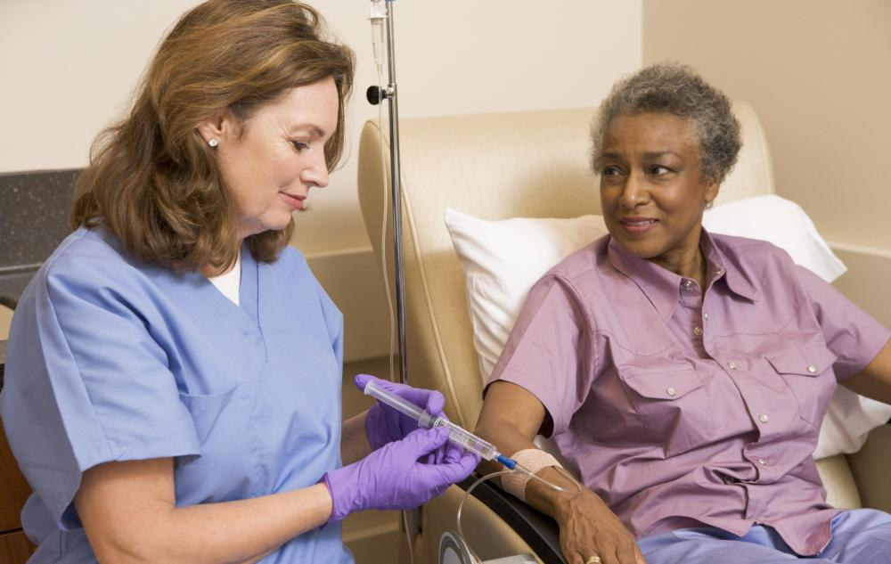 Cancer centers have IV nurses on staff who administer chemotherapy treatments to patients.
