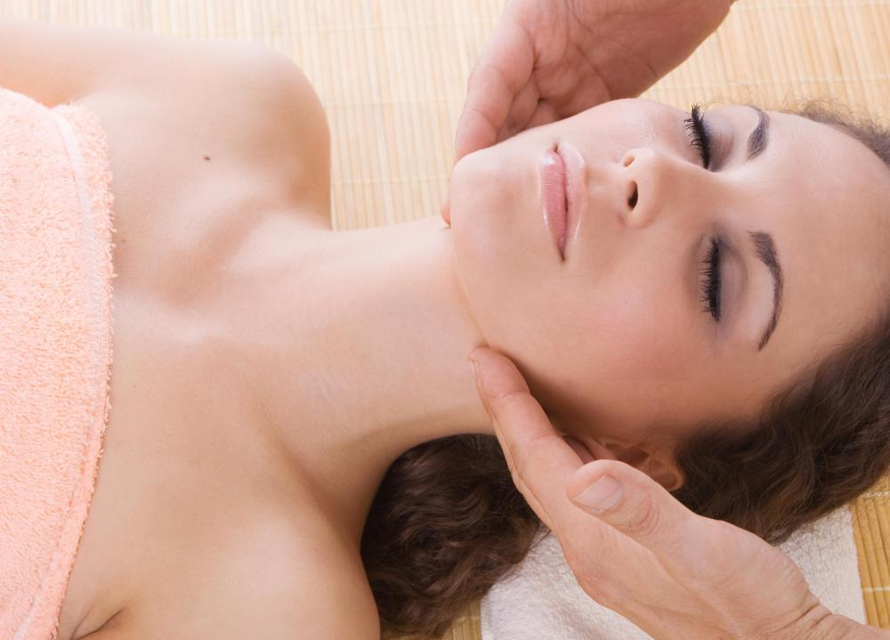 Giving facial massages is usually taught in beginner skin courses at cosmetology schools.