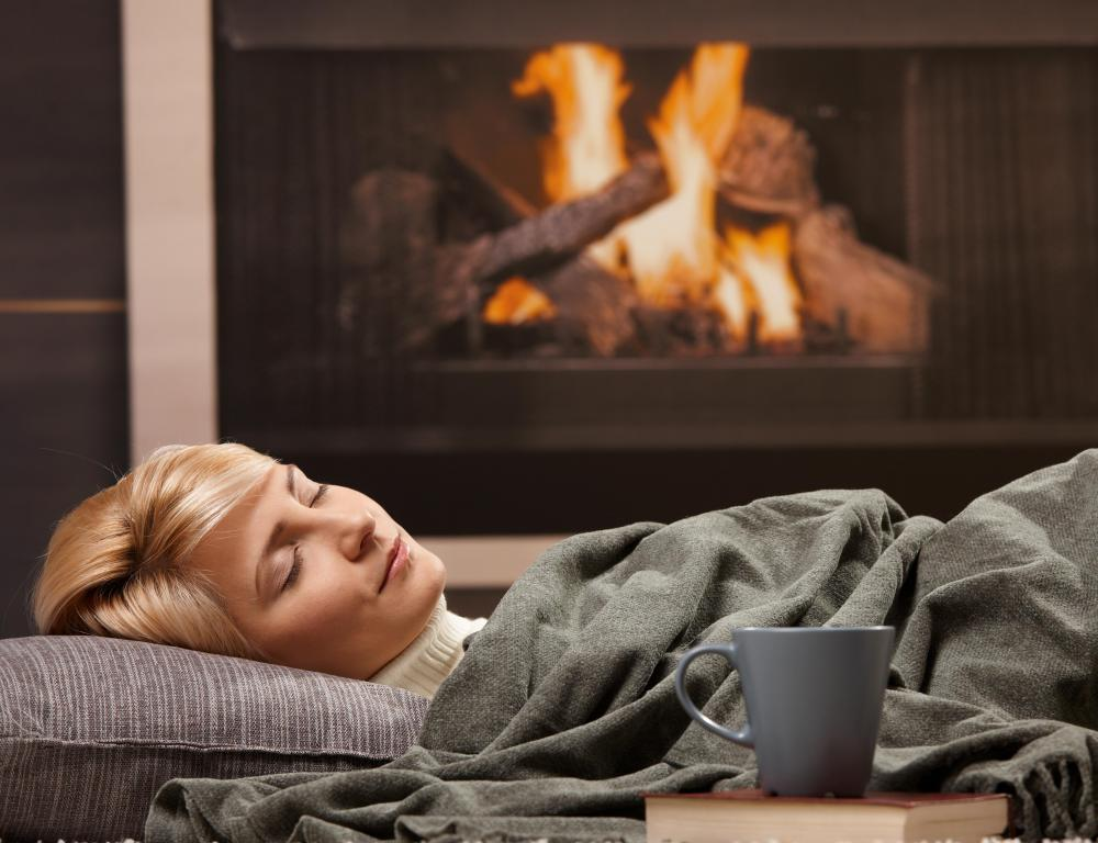 Fireplaces and other types of heating systems can further dry skin during the winter.