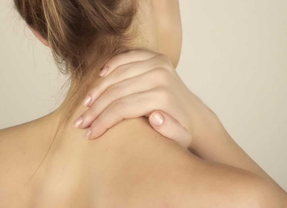 Heating pads may be helpful in reducing neck pain.