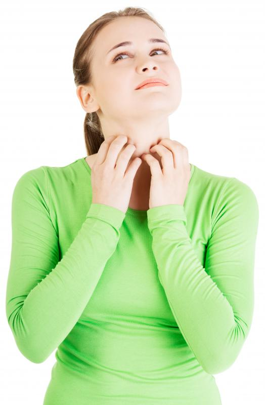 Itching of the face, mouth, neck and throat are common symptoms of a food allergy.