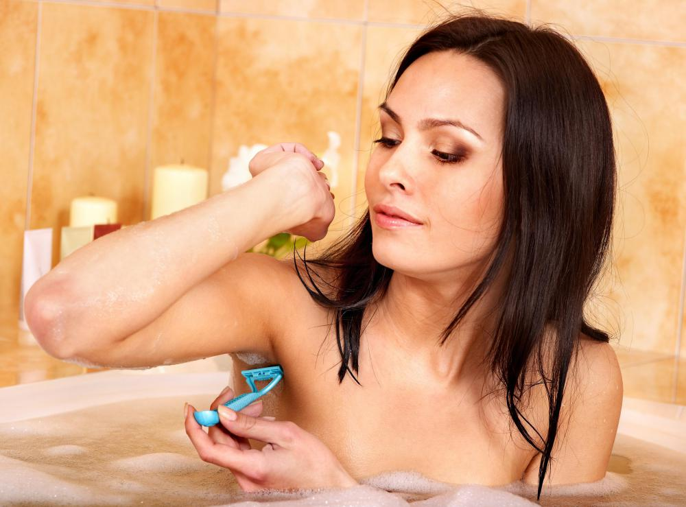 Women shaving without the use of shaving cream can cause irritation on their legs and underarms.