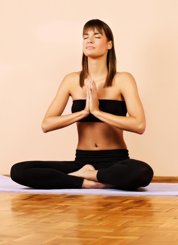 Chanting may be used during yoga.