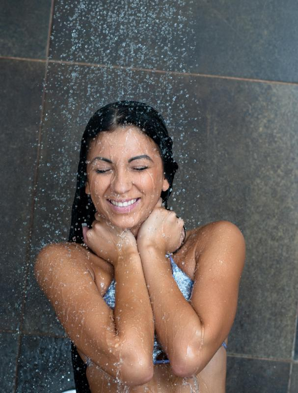 Softened water may be better for skin and hair.